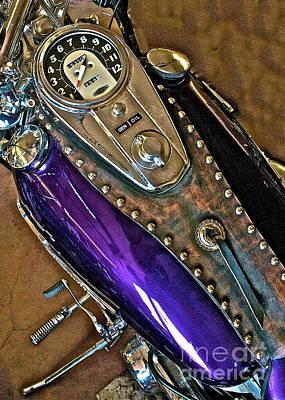 1953 Purple Harley Panhead Art Print