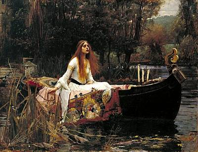 Recently Sold - Fantasy Royalty-Free and Rights-Managed Images - The Lady Of Shalott by John William Waterhouse