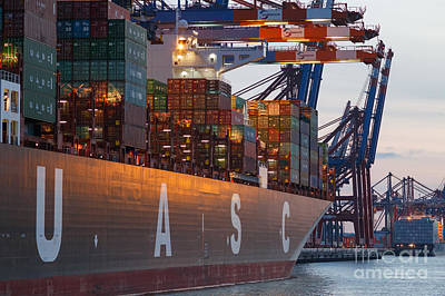 Pineapple - Hamburg Harbor Container Terminal by Jannis Werner