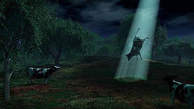 Science Fiction Photos - Alien Abduction by Adam Romanowicz