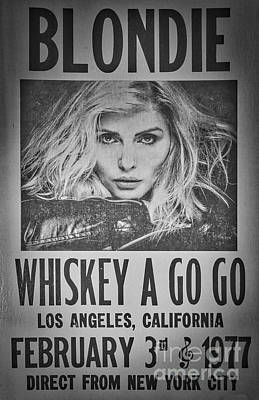 Rock And Roll Royalty-Free and Rights-Managed Images - Blondie At The Whiskey A Go Go by Mitch Shindelbower
