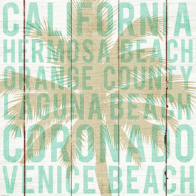Bon Voyage California Palm Art Print by Michael Mullan