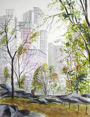 Central Park Stroll Art Print by Clara Sue Beym