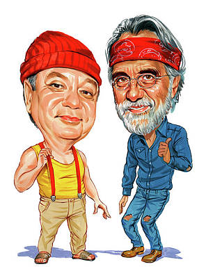 Comics Royalty-Free and Rights-Managed Images - Cheech Marin and Tommy Chong as Cheech and Chong by Art