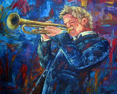 Jazz Painting Royalty Free Images - Chris Botti Royalty-Free Image by David G Paul