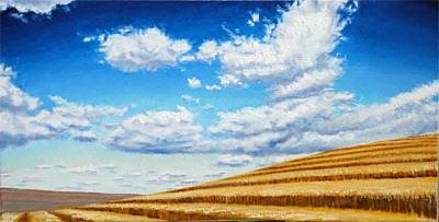 Modern Sophistication Modern Abstract Paintings - Clouds on the Palouse near Moscow Idaho by Leonard Heid