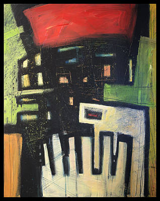 Jazz Painting - D Flat by Tim Nyberg