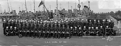 Aa Photograph - Destroyer Isabel & Crew 1919 by Fred Schutz Collection