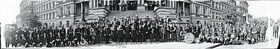 Marching Band Photograph - Fire Department Band Washington Dc by Fred Schutz Collection