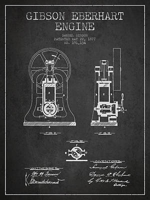 Pineapple - Gibson Eberhart Engine Patent Drawing From 1877- Dark by Aged Pixel