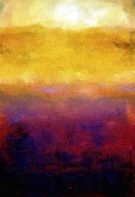 Abstract Landscape Royalty-Free and Rights-Managed Images - Golden Sunset by Michelle Calkins