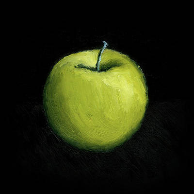 Still Life Royalty-Free and Rights-Managed Images - Green Apple Still Life by Michelle Calkins