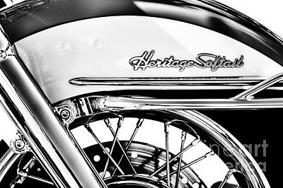 Harley Davidson Photograph - Harley Heritage Softail Monochrome by Tim Gainey