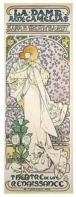 La Dame Aux Camelias Print by Georgia Fowler