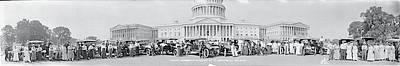 Federal Government Photograph - Lanscaster Automobile Club Washington Dc by Fred Schutz Collection