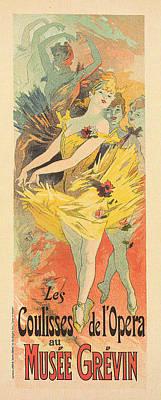 Les Coulisses De'l Opera Print by Georgia Fowler