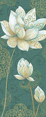White Lotus Painting - Lotus Dream IIb by Daphne Brissonnet