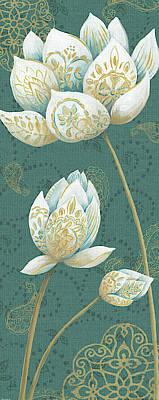White Lotus Painting - Lotus Dream IIib by Daphne Brissonnet