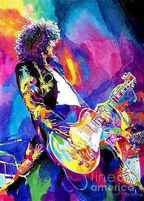 Portraits Royalty Free Images - Monolithic Riff - Jimmy Page Royalty-Free Image by David Lloyd Glover