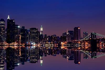 New York Skyline Royalty-Free and Rights-Managed Images - NYC Skyline New York City USA by Sabine Jacobs