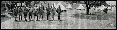 Officers At Camp Newayo, New York State Art Print