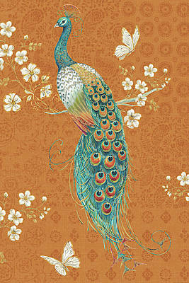 Free Painting - Ornate Peacock X Spice by Daphne Brissonnet