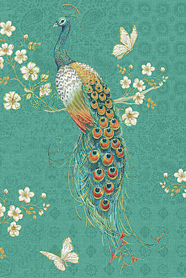 Free Painting - Ornate Peacock Xd by Daphne Brissonnet