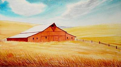 Eric Fan Whimsical Illustrations - Palouse Air by Leonard Heid