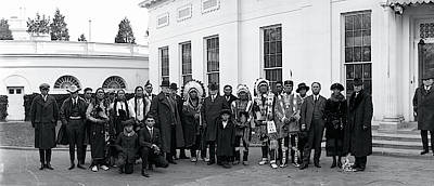 White House Photograph - Ponca Indians Washington Dc by Fred Schutz Collection