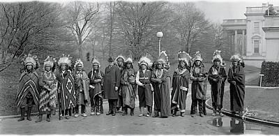 White House Photograph - Pueblo Indians Washington Dc by Fred Schutz Collection