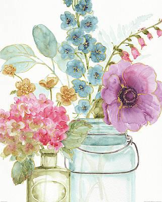 Rainbow Seeds Flowers Viii Art Print