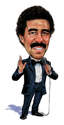 Comics Royalty-Free and Rights-Managed Images - Richard Pryor by Art