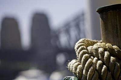 Everything Batman Rights Managed Images - Ropes with Harbour backdrop Royalty-Free Image by Sheila Smart Fine Art Photography