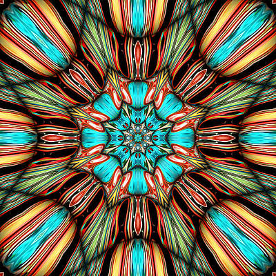 Contemporary Abstract Digital Art - Stella by Wendy J St Christopher