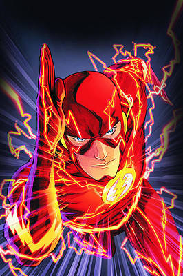 Comics Royalty-Free and Rights-Managed Images - The Flash by FHT Designs