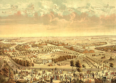 Philadelphia Drawing - The International Exposition 1876 At Philadelphia by Litz Collection