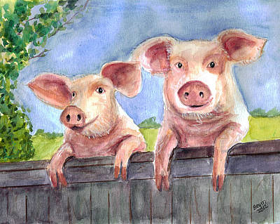 Painting - This Little Piggy by Clara Sue Beym