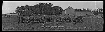 In A Row Photograph - Troop G. N. Y. State Troopers Syracuse by Fred Schutz Collection