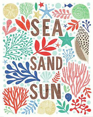 Sand Dollar Painting - Under Sea Treasures IIi by Michael Mullan