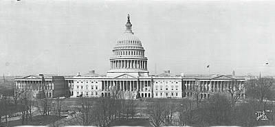 House Of Representatives Photograph - Us Capitol Washington Dc 1916 by Fred Schutz Collection
