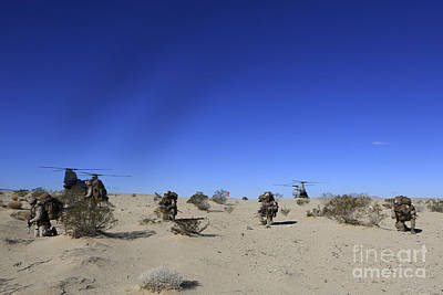 Fantasy Royalty-Free and Rights-Managed Images - U.s. Marines Conduct An Airfield by Stocktrek Images