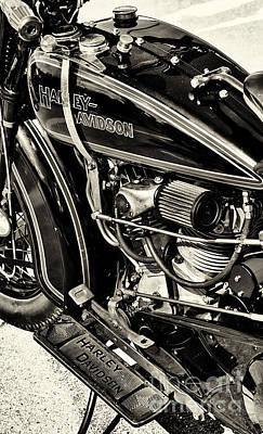 Vintage Harley Sepia Art Print by Tim Gainey
