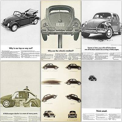 Bug Digital Art - Volkswagen Beetle Collage by Georgia Fowler