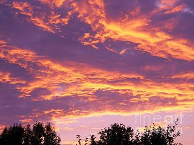 Photograph - Raining Fire In My Sky by Judy Via-Wolff