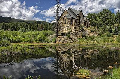 Chapel On The Rock Art Print by Michael Krahl