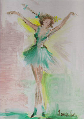 Dance Art Print by Laurie L