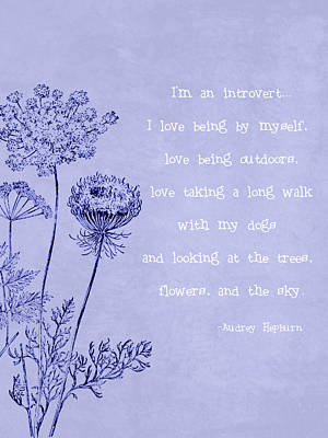 Introvert Art Print by Tia Helen