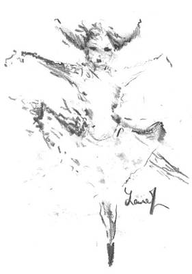 Drawing - Movement Of Dance by Laurie L