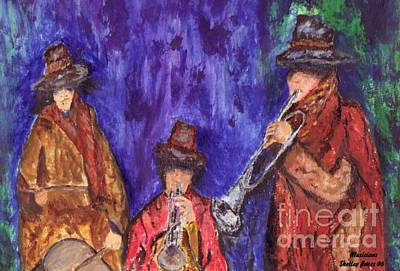 Musicians Royalty Free Images - Musicians Royalty-Free Image by Shelley Jones