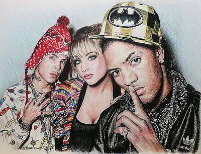 Rap Painting - N-dubz by Andrew Read